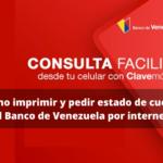 ¿Cómo imprimir y pedir estado de cuenta del Banco de Venezuela por internet?