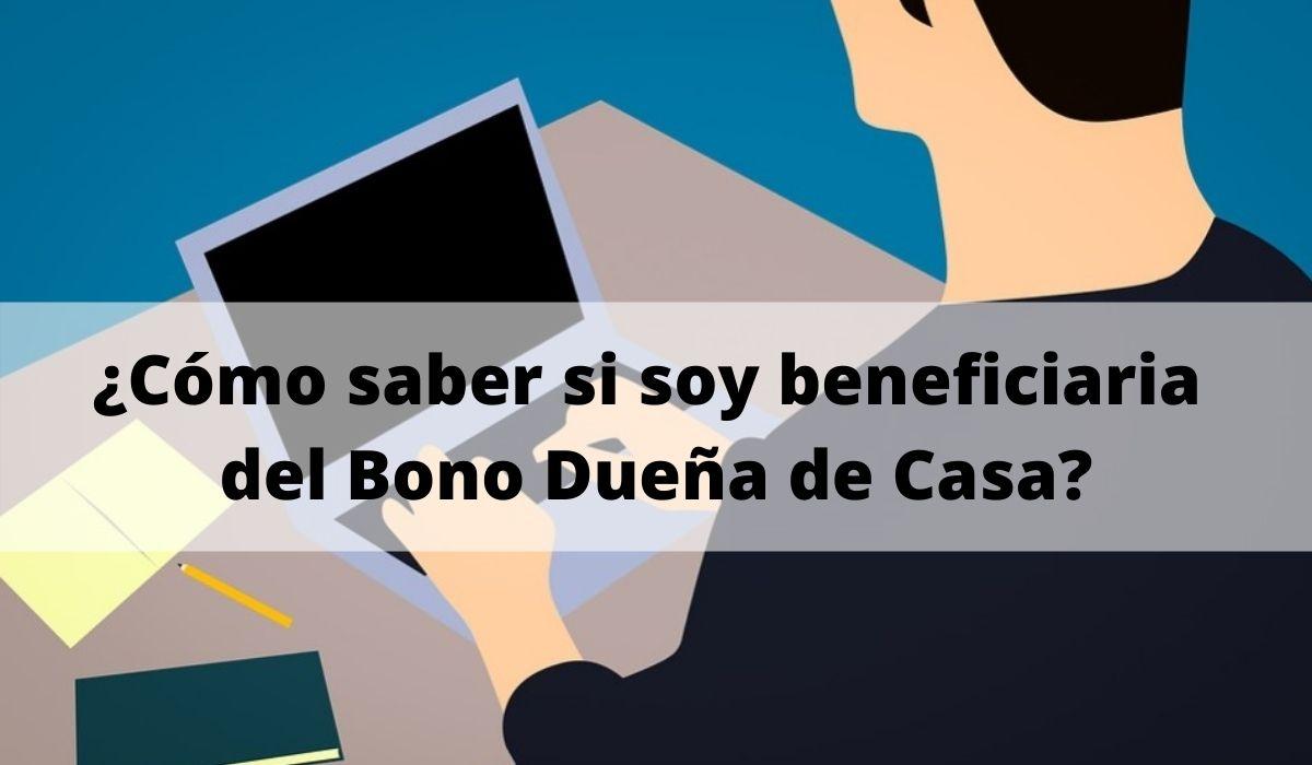 ¿Cómo saber si soy beneficiaria del Bono Dueña de Casa?