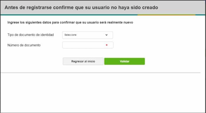 Confirmar usuario Sena