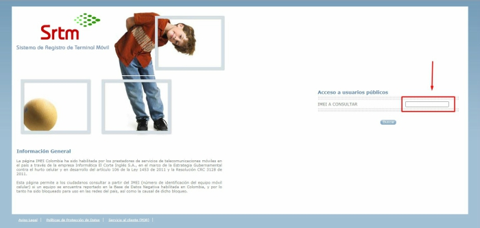 Introduce IMEI celular