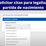 Citas para legalizar partida de nacimiento en Venezuela