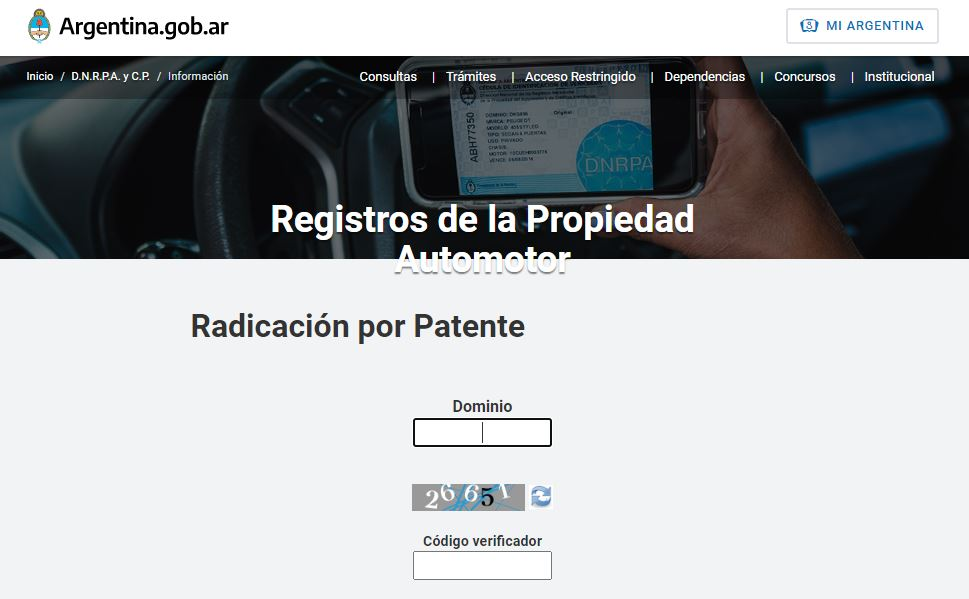 averiguar titular por patente automotor gratis