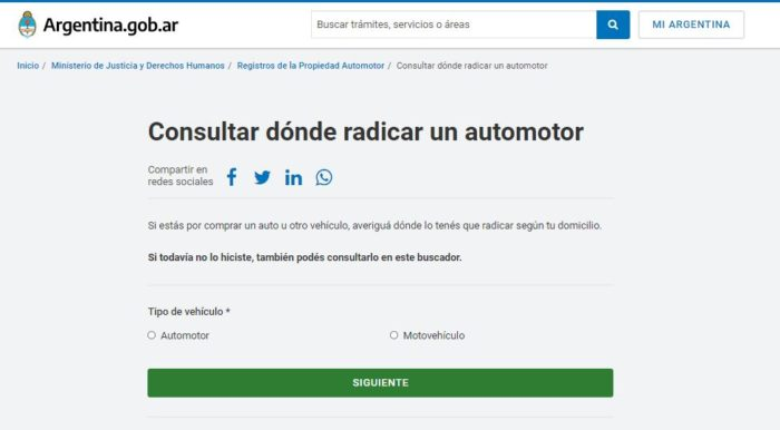 radicar automotor