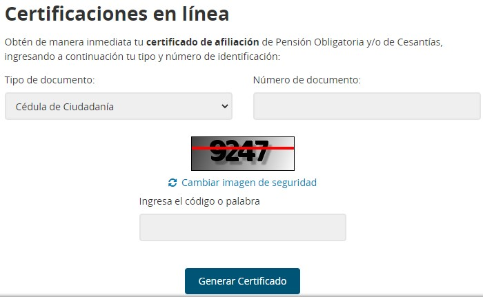 generar certificado